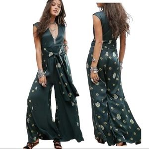 Free People Green Jumpsuit Size Large